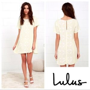 Obey White and Yellow Cotton Minidress Pockets!